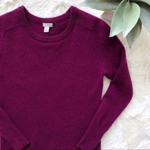 Halogen Cashmere Crewneck Raspberry Sweater XS